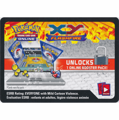 Pokemon XY Flashfire Unused Booster Pack Code Card
