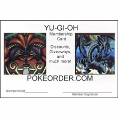 PokeOrder's YuGiOh! 10% Off Member Card
