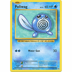 Poliwag 23/108 Common - Pokemon XY Evolutions Single Card
