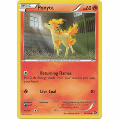 Ponyta 16/114 Common - Pokemon XY Steam Siege Card
