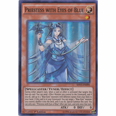 Priestess with Eyes of Blue SHVI-EN098 Super Rare - YuGiOh Shining Victories Card