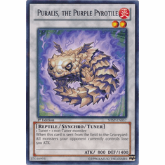 Puralis, the Purple Pyrotile SHSP-EN057 - YuGiOh Shadow Specters Rare