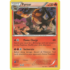 Pyroar 23/114 Rare - Pokemon XY Steam Siege Card