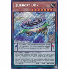 Qliphort Disk NECH-EN024 - Secret Rare The New Challengers Card