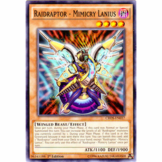 Raidraptor - Mimicry Lanius CROS-EN017 Common - YuGiOh Crossed Souls Card
