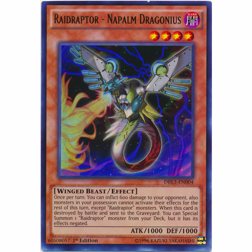 Raidraptor - Napalm Dragonius DRL3-EN004 Ultra Rare - YuGiOh Dragons of Legend Unleashed Card
