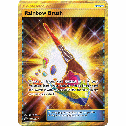Rainbow Brush 182/168 Secret Rare - Celestial Storm SM7 Pokemon Card