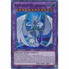 Rainbow Overdragon - LED2-EN037 - Super Rare 1st Edition
