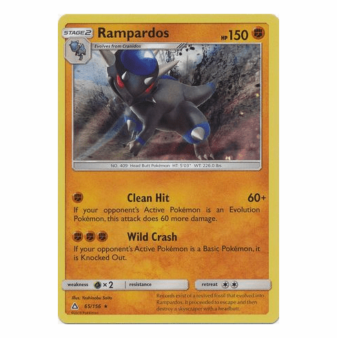 Rampardos 65/156 Holo Rare - Pokemon Ultra Prism
