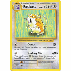 Raticate 67/108 Rare - Pokemon XY Evolutions Single Card
