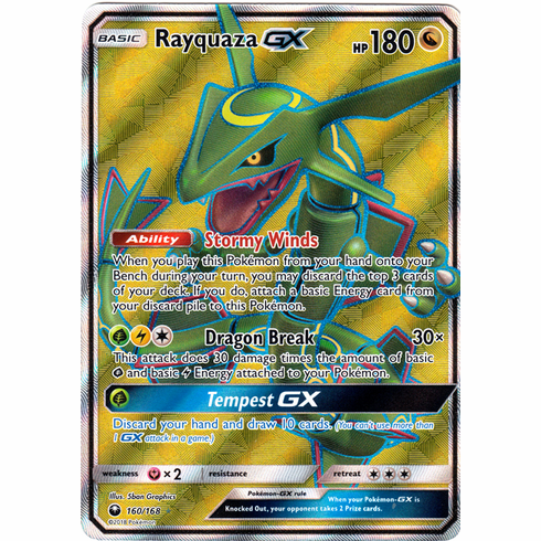 Rayquaza GX 160/168 Full Art - Celestial Storm SM7 Pokemon Card
