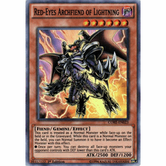 Red-Eyes Archfiend of Lightning CORE-EN023 Super Rare - YuGiOh Clash of Rebellions Card