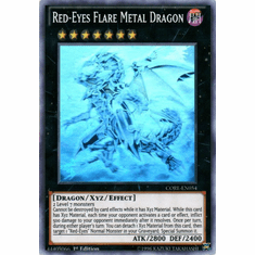 Red-Eyes Flare Metal Dragon CORE-EN054 Ghost Rare - YuGiOh Clash of Rebellions Card