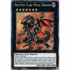 Red-Eyes Flare Metal Dragon CORE-EN054 Secret Rare - YuGiOh Clash of Rebellions Card