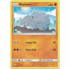 Rhyhorn 65/147 Common - Pokemon Sun & Moon Burning Shadows Card