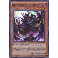 Rubic, Malebranche of the Burning Abyss NECH-EN082 - Ultra Rare The New Challengers
