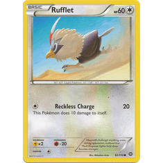 Rufflet 92/114 Common - Pokemon XY Steam Siege Card