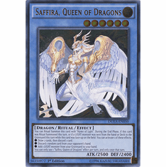 Saffira, Queen of Dragons DUEA-EN050 - ULTIMATE RARE Duelist Alliance Card