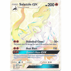 Salazzle GX 151/147 Hyper Rare - Pokemon Sun & Moon Burning Shadows Card