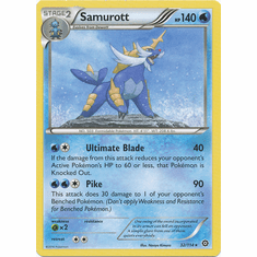 Samurott 32/114 Rare - Pokemon XY Steam Siege Card