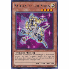Satellarknight Sirius NECH-EN027 - Rare The New Challengers Card