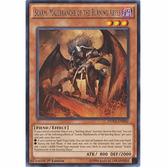 Scarm, Malebranche of the Burning Abyss DUEA-EN082 - RARE Duelist Alliance Card