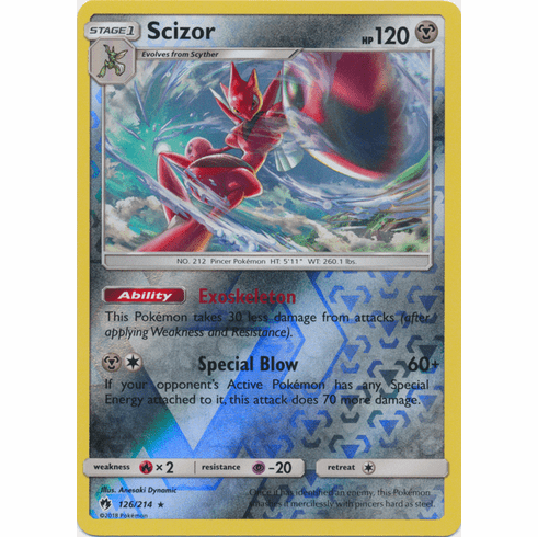 Scizor - 126/214 (Reverse Foil) Pokemon » SM Lost Thunder HR
