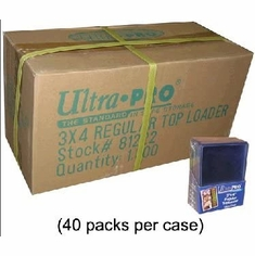 Sealed Case of 1000 - 3x4 Clear 20pt Regular Toploaders 40 x 25 CT