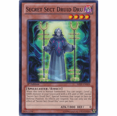 Secret Sect Druid Dru SHSP-EN009 - YuGiOh Shadow Specters Common