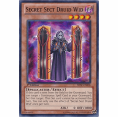 Secret Sect Druid Wid SHSP-EN008 - YuGiOh Shadow Specters Common Card