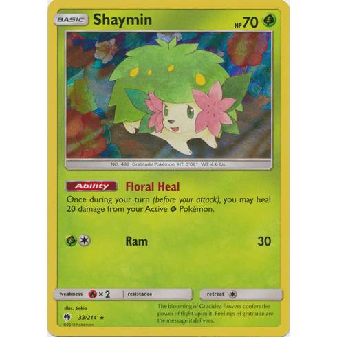 Shaymin - 33/214 Pokemon » SM Lost Thunder HR