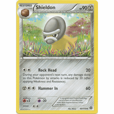 Shieldon 69/114 Uncommon - Pokemon XY Steam Siege Card