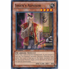 Shien's Advisor SDWA-EN022 - YuGiOh Samurai Warlords Common Card