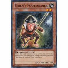 Shien's Footsoldier SDWA-EN010 - YuGiOh Samurai Warlords Common Card