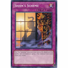 Shien's Scheme SDWA-EN038 - YuGiOh Samurai Warlords Common Card