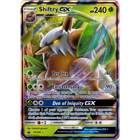 Shiftry GX 14/168 Ultra Rare - Celestial Storm SM7 Pokemon Card