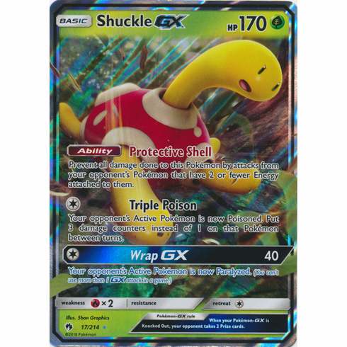 Shuckle GX - 17/214 - Sun & Moon: Lost Thunder Ultra Rare