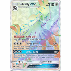 Silvally GX 119/111 Hyper Rare - Pokemon Crimson Invasion Card