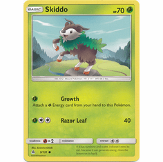 Skiddo 9/131 Common - Pokemon Sun & Moon Forbidden Light Card