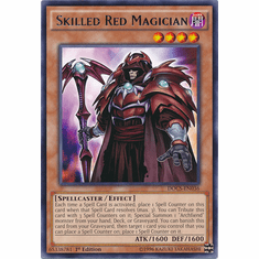 Skilled Red Magician DOCS-EN036 Rare - Dimension Of Chaos Card