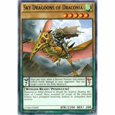 Sky Dragoons of Draconia CORE-EN000 Rare - YuGiOh Clash of Rebellions Card