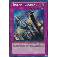 Solemn Judgment LCJW-EN182 - YuGiOh Joey's World Secret Rare Card