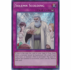 Solemn Scolding NECH-EN079 - Secret Rare The New Challengers Card