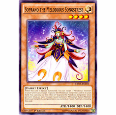 Soprano the Melodious Songstress CROS-EN010 Common - YuGiOh Crossed Souls Card