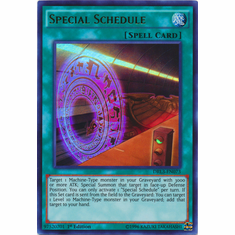 Special Schedule DRL3-EN073 Ultra Rare - YuGiOh Dragons of Legend Unleashed Card