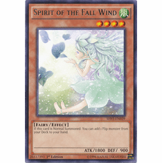 Spirit of the Fall Wind SHVI-EN039 Rare - YuGiOh Shining Victories Card