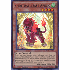 Spiritual Beast Apelio THSF-EN025 - YuGiOh The Secret Forces Super Rare Card