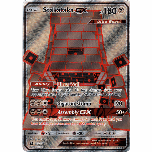 Stakataka GX 159/168 Full Art - Celestial Storm SM7 Pokemon Card