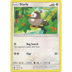 Starly 81/111 Common - Pokemon Crimson Invasion Card