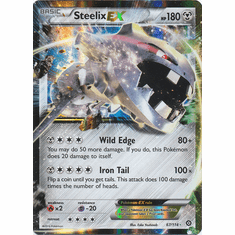 Steelix EX 67/114 Rare Holo - Pokemon XY Steam Siege Card